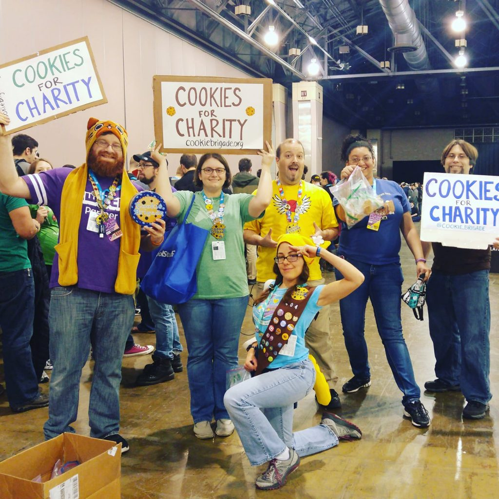 Brigade volunteers posing at PAX Unplugged 2017