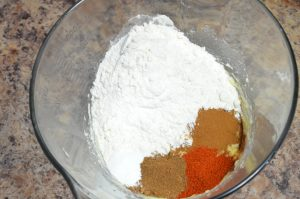 picture of the ingredients for plasma grenade cookies in a bowl before combining